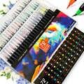 72/48/24/20/12 cores marcadores definir desenho escova caligrafia canetas esboçando estudante aguarela marcador escola arte suprimentos