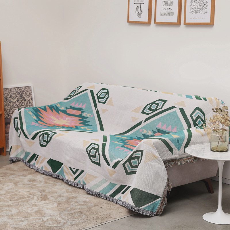 Jacquard Sofa Towel Cover Knitted Blanket Home Decor Thread Blankets 2 3 Seater