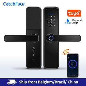 Smart Fingerprint Door Lock Biometric Lock Digital Electronic Lock With WiFi TUYA APP Password RFID Unlock  For Home Security