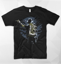 Michael Jackson T Shirt Thriller Zombie Pop King Moonwalk Who Bad New Brand O Neck Short Sleeves Cotton Men T-shirt Sayings