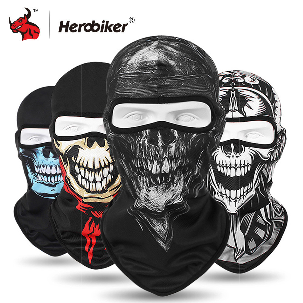 HEROBIKER 2020 New Balaclava Motorcycle Face Mask Lycra Moto Biker Wind Cap Ski Mask Stopper Windproof Motorcycle Mask