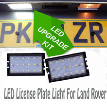 2Pcs 18SMD LED License Plate Light For Land Rover Discovery 3 4 Freelander 2 Rang Sport Auto Number Lamps  CE