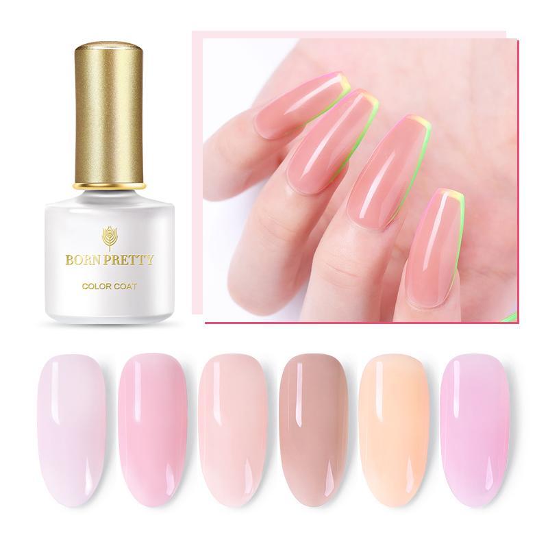 От BORN PRETTY-гель лак для ногтей 6 мл розового цвета желе цветной гель для ногтей лак впитывающийся УФ светодиодный гель Лаки полупрозрачный ка...
