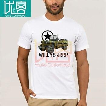 Camiseta Willys Jeep para hombre, camiseta militar Nostalgia WW2 d-day Historic Vehicle...
