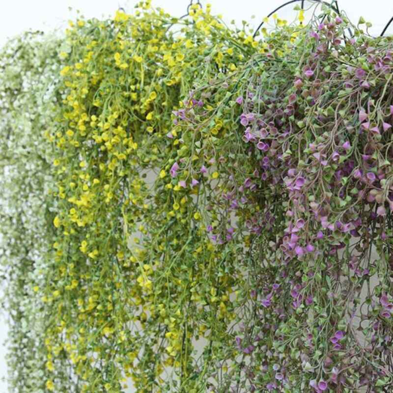 Pesta Pernikahan Buatan Bunga Gantung Ivy Tanaman Merambat Palsu Dedaunan Bunga Wisteria Dekorasi Rumah