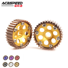 Adjustable DOHC Cam Gears Alloy Timing Gear for Honda Integra Civic for B16A/B16B/B18C Engine blox racing 2pcs adjustable cam gear pulley cam pulley set for honda civic integra d16a sohc 96 00 inlet and exhaust ep cgd16bl