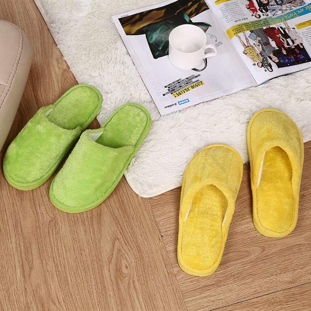 2019 ผู้หญิงรองเท้าผู้ชายรองเท้าแตะผู้ชายบ้านอบอุ่น Plush Soft รองเท้าแตะภายใน Anti-Skid ฤดูหนาวห้องนอนรองเท้า chaussures femme