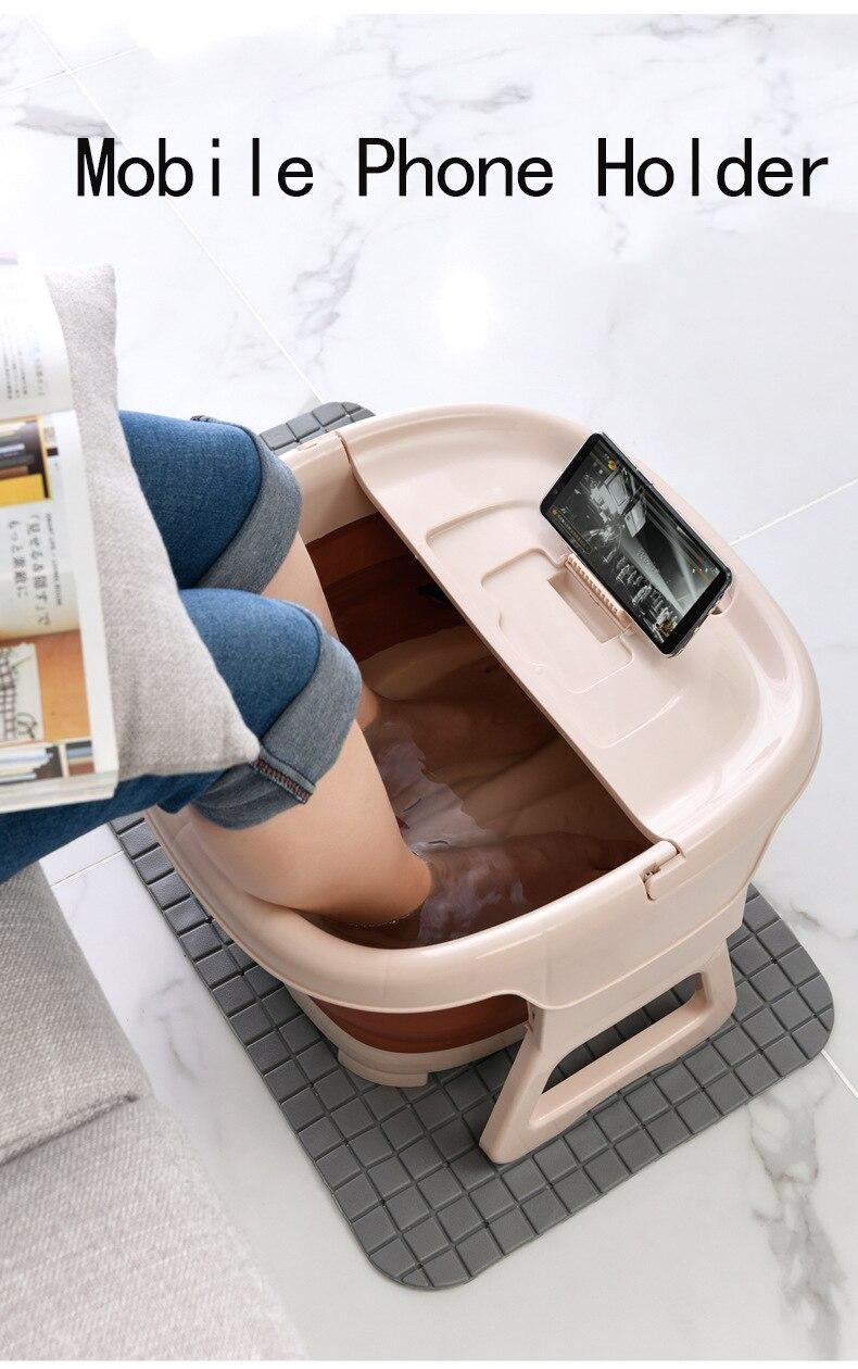 Portátil dobrável footbath banheira pé massagem imersão