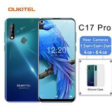 OUKITEL C17 Pro Smartphone 4G RAM 64G ROM 6.35'' Android 9.0 Octa Core 4G LTE Triple Camera Face ID