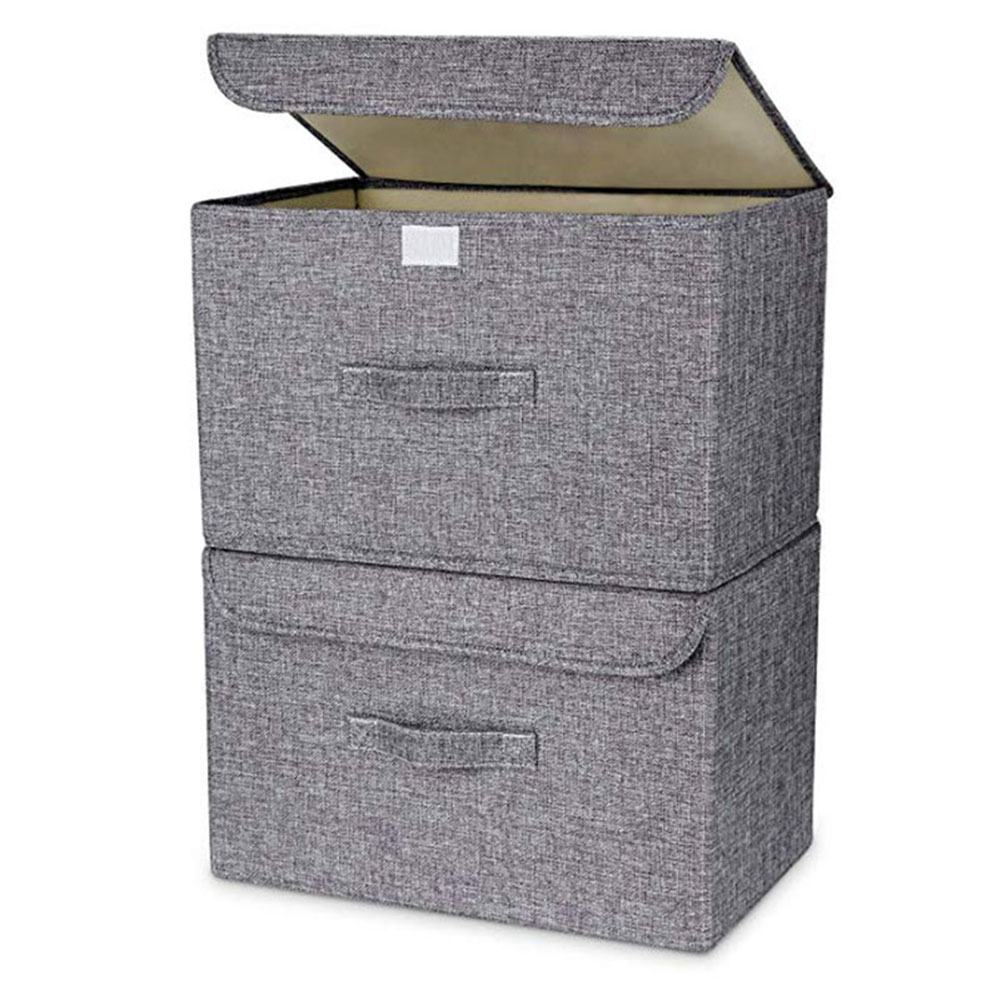 US $5.97 41% OFF|Foldable Basket Cubes Organizer Boxes Containers Drawers  with Lid Storage Box for Office Bedroom Closet Shelves P7Ding-in Storage ...