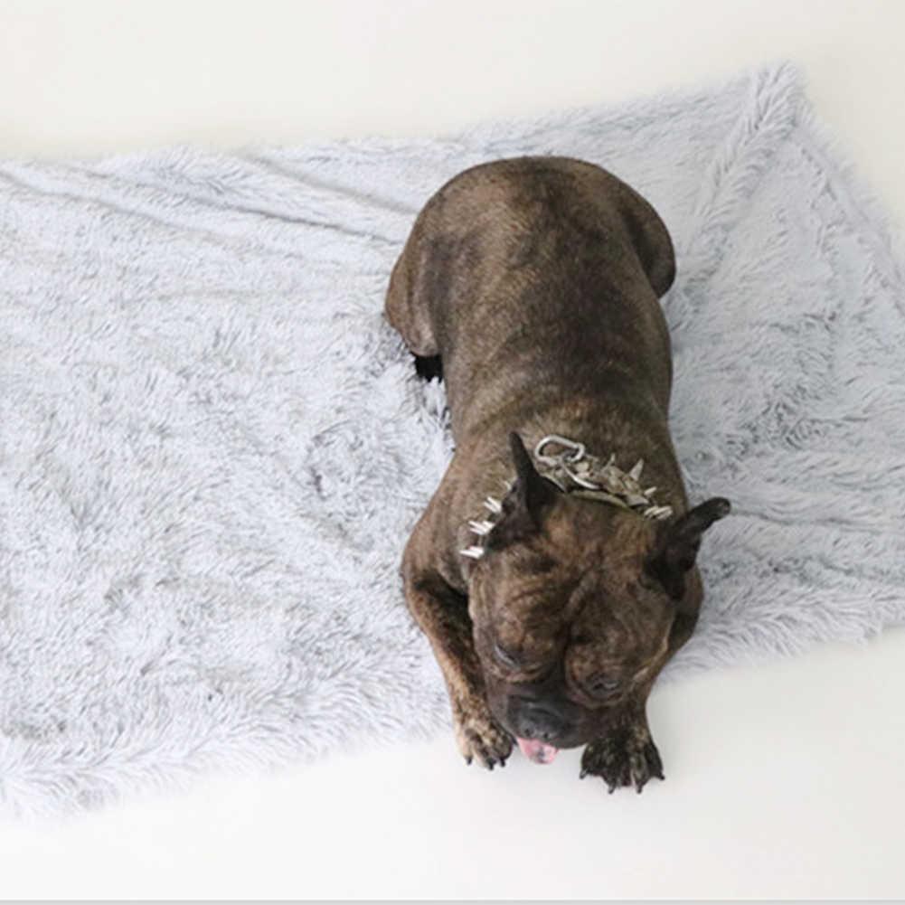 작은 중형 대형 개 고양이에 대한 부드러운 봉제 잠자는 개 침대 통기성 따뜻한 침대 담요 강아지 치와와 테디 애완견 침대 매트 새로운