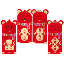 32 Pcs Chinese New Year Red Money Envelope Year of the Rat Packet Bag Children New Year Red Pocket for Student Kids Gift 3 6pcs 2020 new year cartoon mouse rat chinese red envelopes packets pocket bag