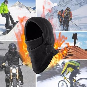Outdoor Winter Windproof Hiking Caps Men Warm Thermal Neck Face Ski Warmer Fleece Motorcycle Balaclava Helmet Bike Hat Bean G5H6