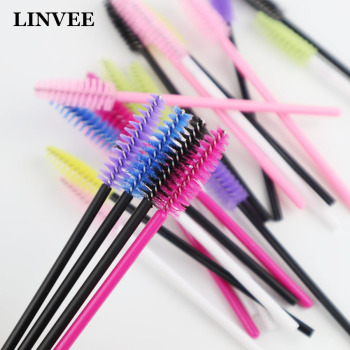 100 Pcs Eyelash Extension Eyebrow Brush for False Eyelash Grafting Individual Disposable Mascara Wands Eyes Care Styling Tools