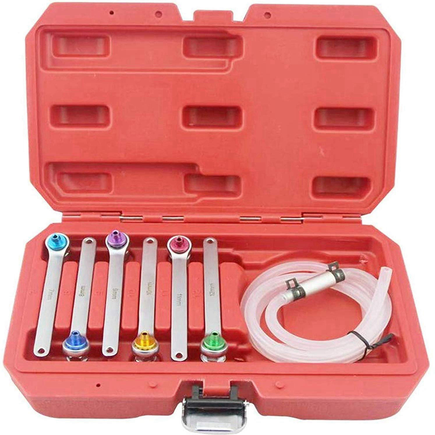 Brake Bleeder Wrench Kit 6 Pieces 7 8 9 10 11 12 mm Bleeder Wrenches Brake Bleeding & Hydraulic Clutch Systems Wrench Set and Dr image