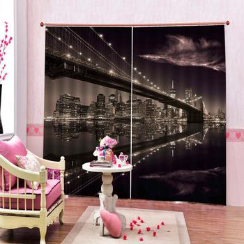 night curtains Customized size Luxury Blackout 3D Window Curtains For Living Room building Decoration curtains
