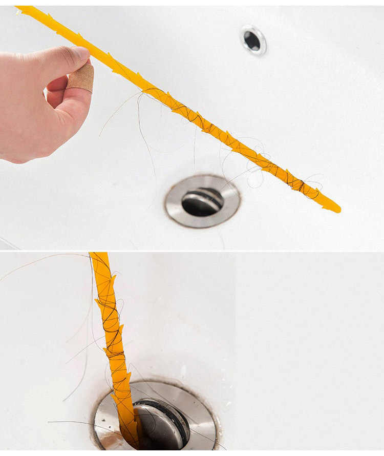 44.5cm Keuken Riool Borstel Wc Baggeren Pijp Snake Borstel Gereedschap Prikkeldraad Design Badkamer Keuken Accessoires