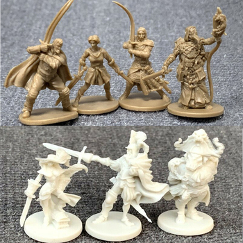 New 7pcs/Set  Wars Board Miniatures Game Figures Role Playing Resin Model Boy Toys 25pcs set arcadia quest role playing board games miniatures dnd model wars game figures toys