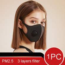 reusable facemask Protect Mouth Maske Breathing Valves Filter Prevent Saliva Dust Anti Pollution Respirator