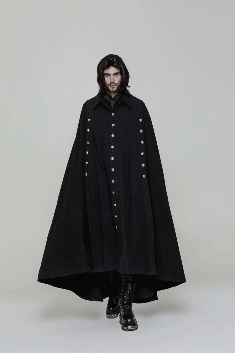 European, American and South Korean versions of men's World War II Woolen Cape Coat fashionable man bat fashionable new style wo