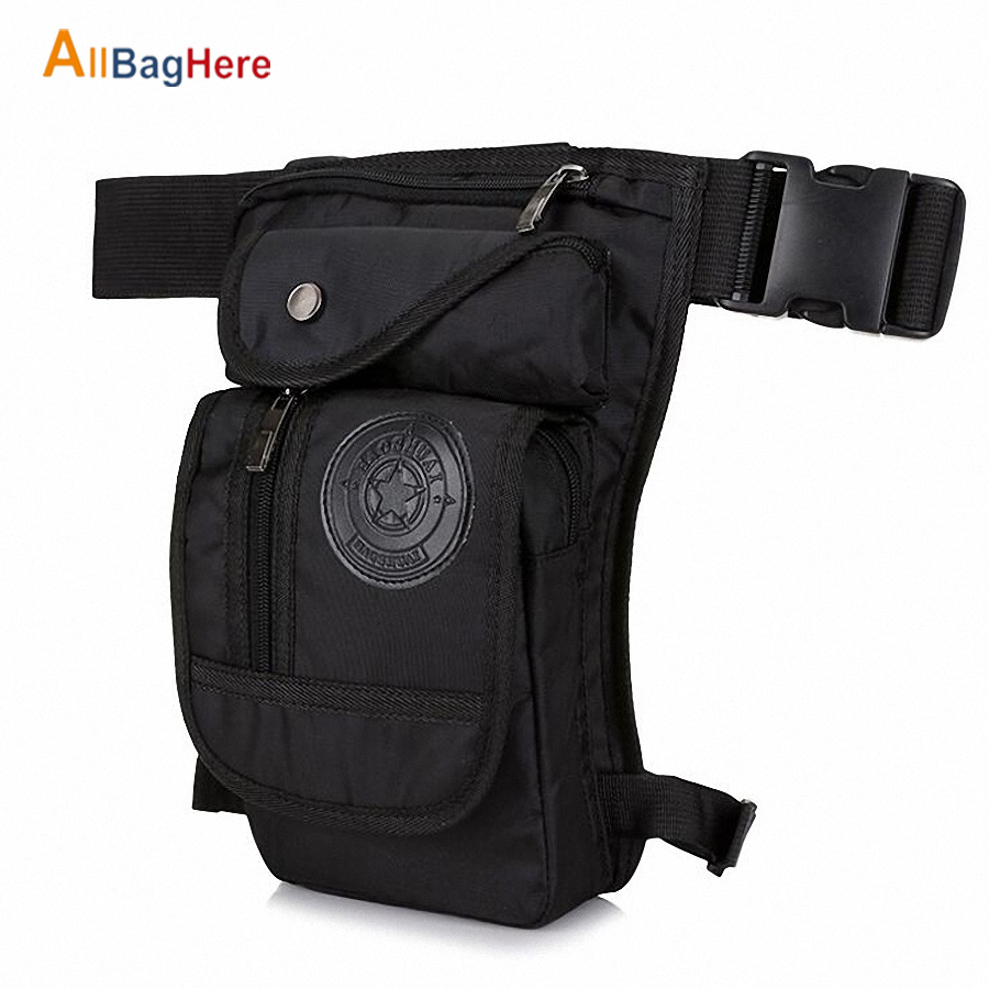 Men's Waterproof Nylon Drop Leg Bag Waist Bag Military Travel Multi-purpose Fanny Pack Outdoor Sports Hunting Climbing Belt Bags