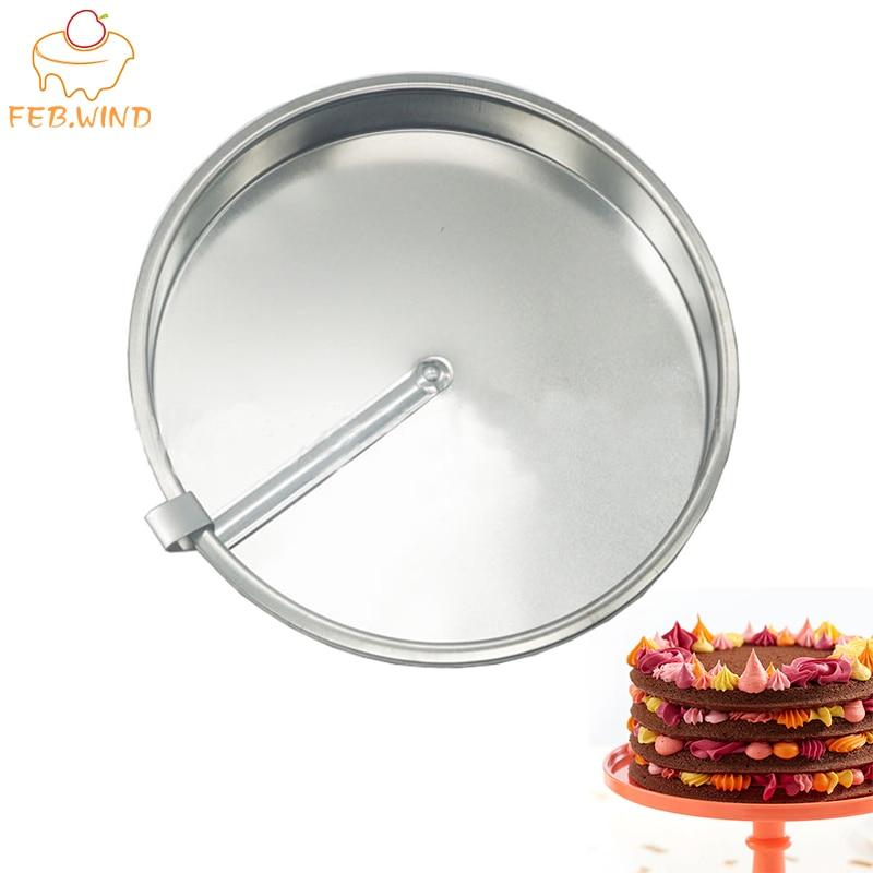קל שחרור 8 אינץ עגול עוגת מחבתות עם גולשים יצוק ברזל רב Tier עוגת עובש/עובש שכבה עוגות פאן עבור אפיית C144