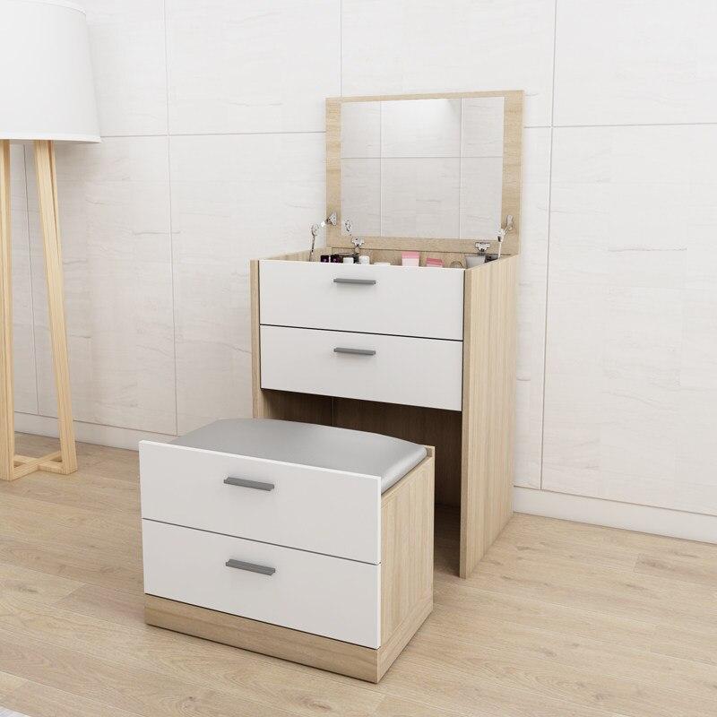 Современный мини набор для туалета с выдвижным зеркалом Многофункциональный туалетный столик семейная мебель мандарная доска Сюрприз подарок - 3