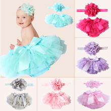 Baby Girl Lace shorts Ruffle Bloomers with headwear party Kids Girls Short Diaper Cover Culotte Cake Smash Pant
