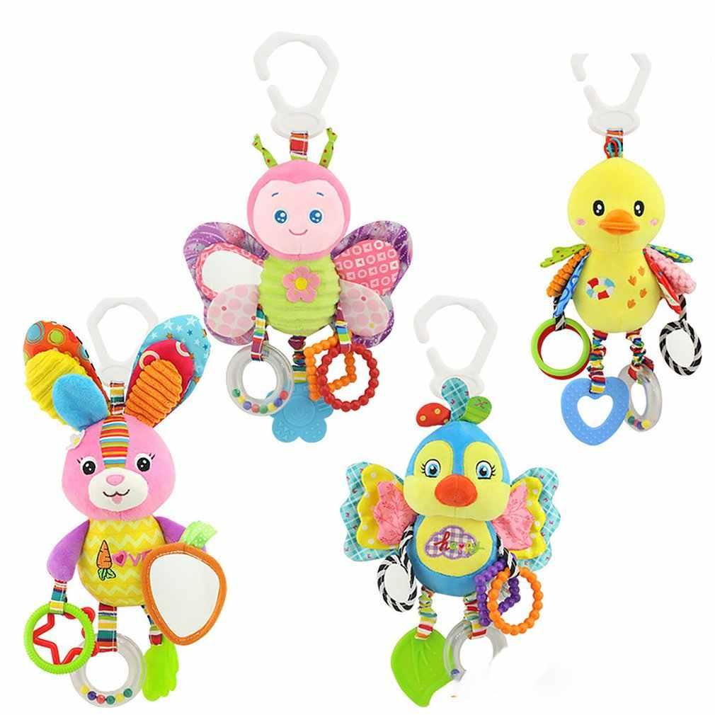 Bayi Mainan Kerincingan Mainan Kereta Gantung Mainan Hewan Lucu Boneka Bayi Dipan Tempat Tidur Gantung Lonceng Mainan Gajah Kelinci Anjing