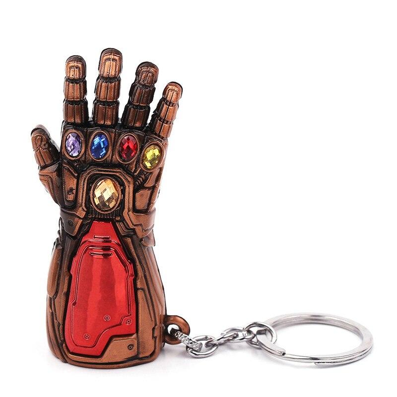 Marvel Мстители 4 Железный человек Бесконечность гаунтлет Косплей рука танос латексные перчатки руки супергерой бутафорское оружие ключ цепь - Цвет: Antique Copper