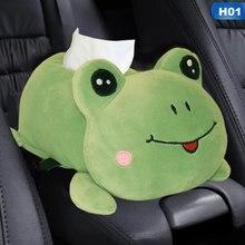Accoudoir de voiture boîte à mouchoirs en peluche animaux appui-tête oreiller Multi usage lavable siège arrière serviette porte-papier intérieur Dec boîtes à mouchoirs