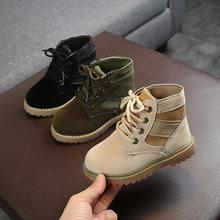 Crianças botas do deserto com pele para o outono inverno criança meninas meninos martin botas crianças meados de bezerro tático exército bota crianças sapatos