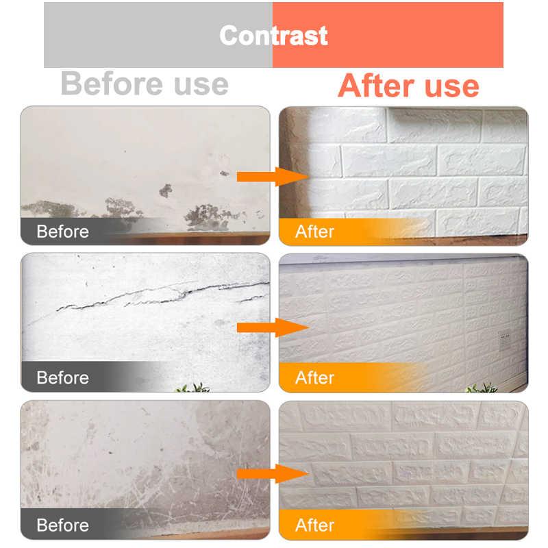 3D קיר מדבקות עמיד למים DIY 70*77cm לבנים יש קליפת דביק קיר נייר 3D לבנים אבן קיר ניירות לילדים חדר