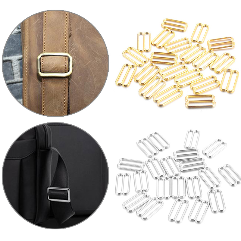 20Pcs Gold Silver Color Metal Alloy Nylon Coated Bra Rings And Sliders Strap Adjusters Buckles Underwear Adjustment Accessories