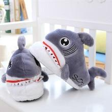 купить Winter Super Animal Funny Shoes For Men And Women Warm Soft Bottom Home&house Indoor Floor Shark Shape Furry Slippers Shallows99 дешево
