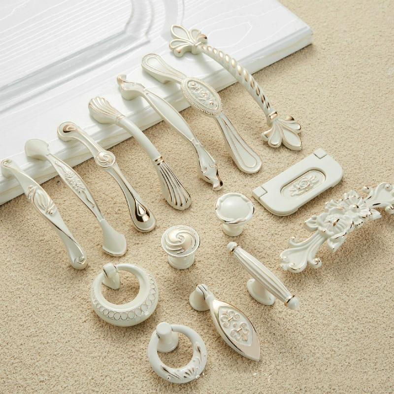 Drawer Pulls Kitchen Cabinet Handles 96mm/128mm Beige Door Knobs and Handles Drawer Knob Furniture Drawer Knob Metal