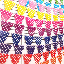 Dot bunting balloon pennant paper birthday party hotel shopping mall store celebration dress up decoration