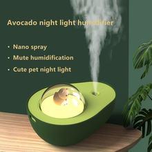 Зарядка через usb мини авокадо ночной Светильник увлажнитель