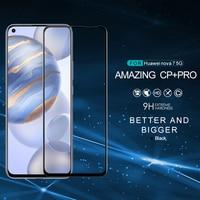 Huawei nova 7 protetor de tela nova 7 vidro nillkin cp + pro 2.5d cobertura completa anti-explosão huawei nova 7 se vidro temperado