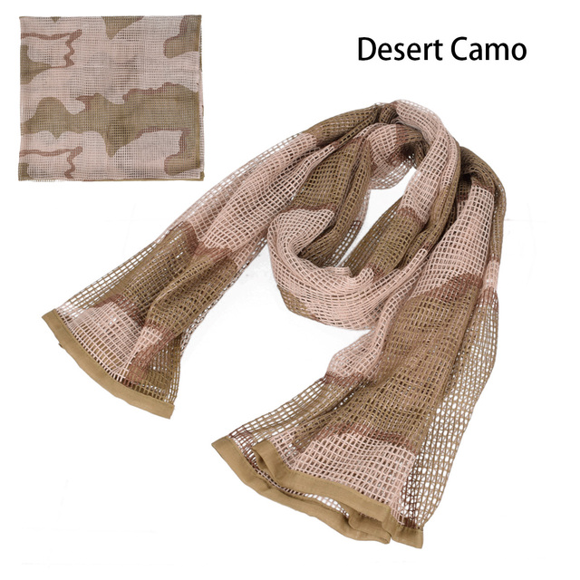 190*90cm Scarf Cotton Military Camouflage Tactical Mesh Scarf Sniper Face Scarf Veil Camping Hunting Multi Purpose Hiking Scarve 4