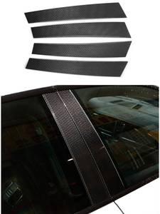 Window-Trim-Covers Trims Carbon-Fiber Real Car Exterior Porsche Panamera for 4PCS B-Pillar