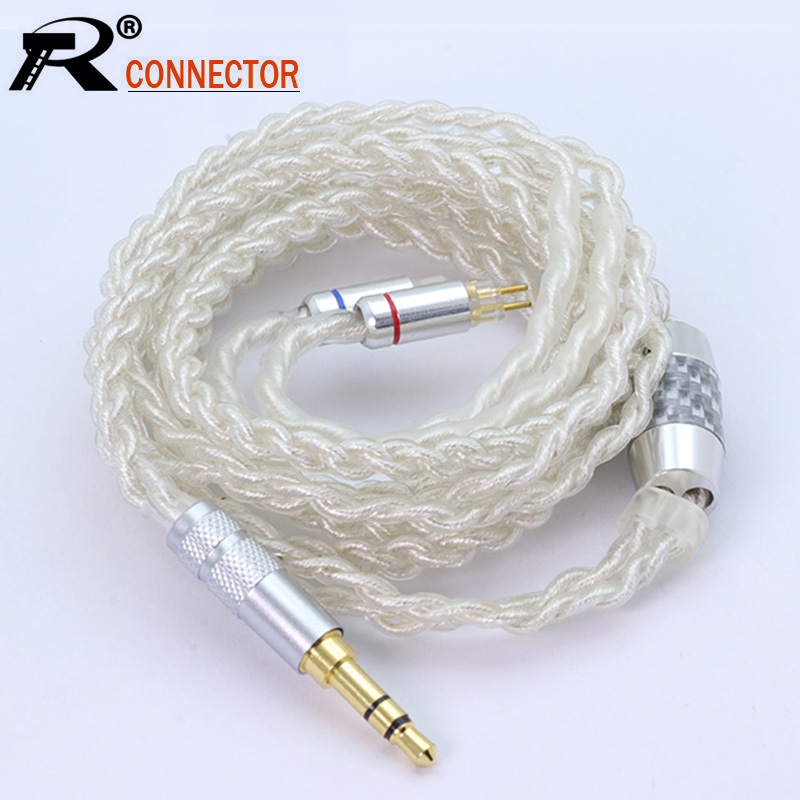 1.2M 4-cores Pure Silver Upgrade 3.5mm Balance Cable With MMCX/2pin Connector For LZ A6 Sony ZS10 AS10 BA10 ZST C16 C10