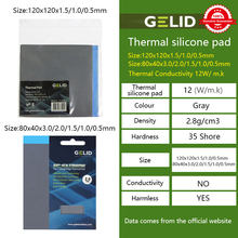 GELID 12w/m.k 3.0mm Thickness Heat Dissipation Silicone Pad CPU/GPU Graphics Card Motherboard Silicone Grease Pad Thermal Pad