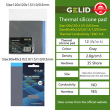 GELID GP-EXTREME THERMAL PAD CPU/GPU Graphics Card  Motherboard Silicone Grease Pad Heat Dissipation Silicone Pad Multi-Size 12W