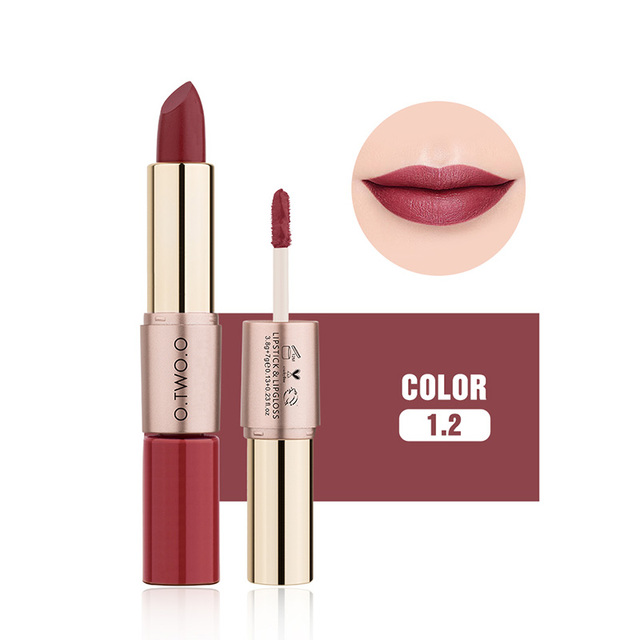 O.TWO.O 12 Colors Velvet Matte Lipstick Sexy Makeup Long Lasting Pigment  Moisture Cosmetic Waterproof smooth Lips Stick TSLM2 1