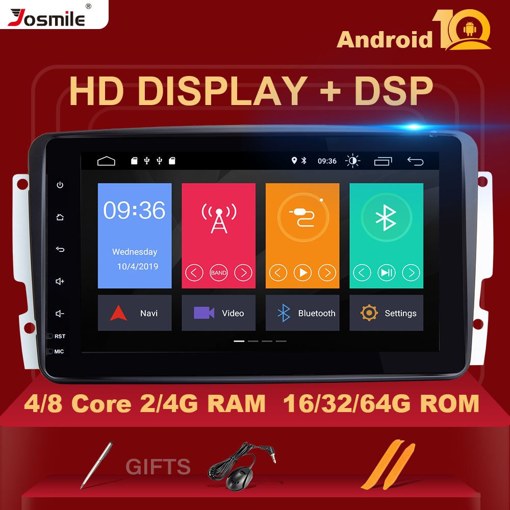 4GB <font><b>2</b></font> <font><b>Din</b></font> Android 10 Car Radio Multimedia Player For W203 Mercedes Benz Vito W639 W168 Vaneo Clk W209 W210 M/ML Navigation DVD image