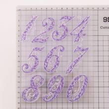 Цифровые прозрачные штампы 0 9 Силиконовая печать для самостоятельного