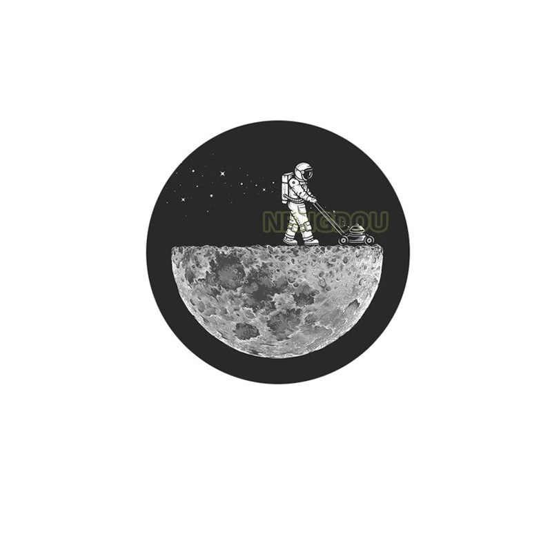 Nengdou T72 astronauta przestrzeń odznaka gwiazda wszechświat planety Pin okrągła przypinka Outspace ikona na plecak ubrania DIY akcesoria rzemieślnicze