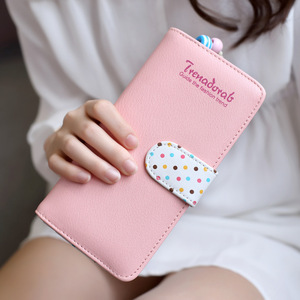 Fashion Wallet Women Wallet Lovely Teenage Girl Leather Coin Purse Phone Case Pocket Card Holders Money Women Wallet 2019(China)