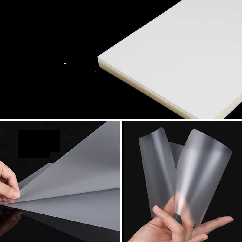 "50 Pcs Glossy Thermal Laminating Pouch Film Sheet 100 Micron Waterproof 8/"""